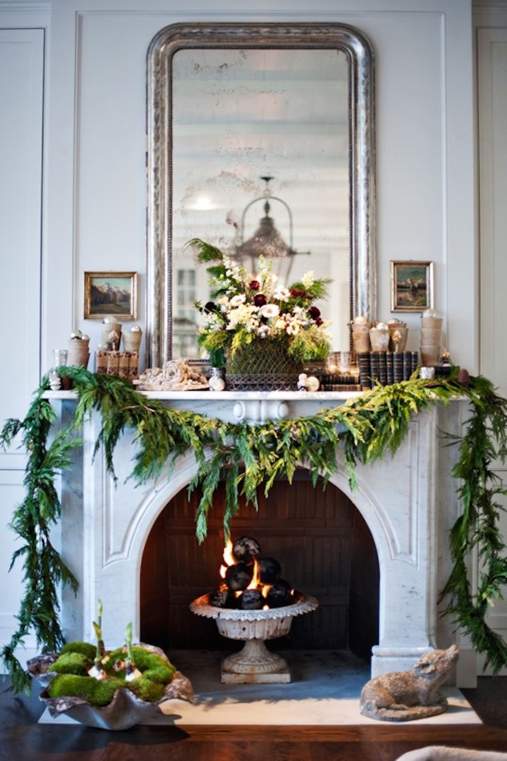 live christmas garland - Christmas Mantel Decorations Garland