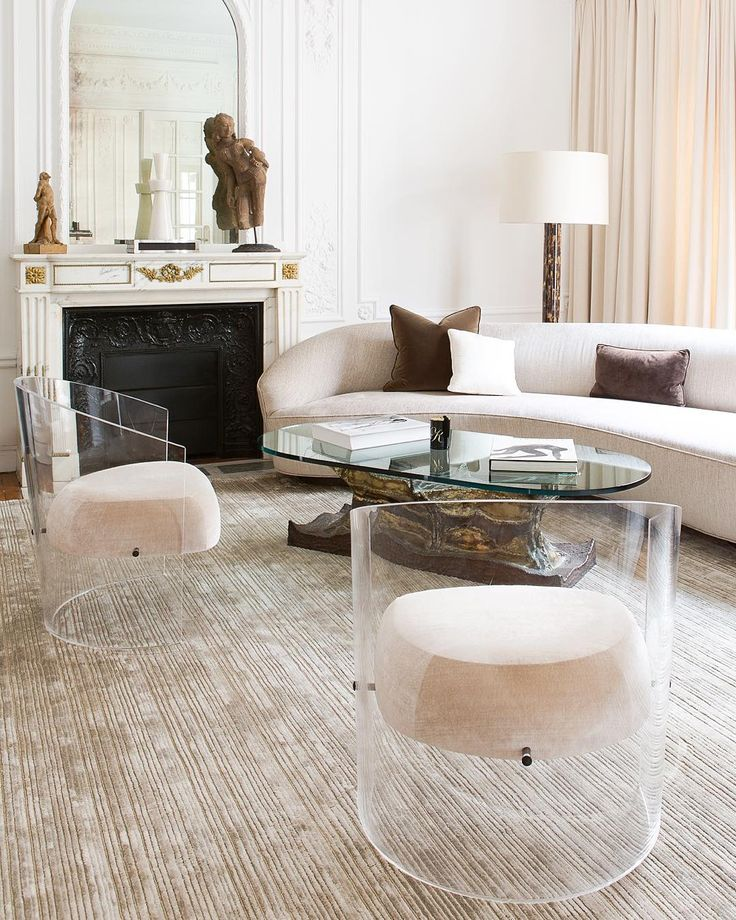 Lucite side chairs