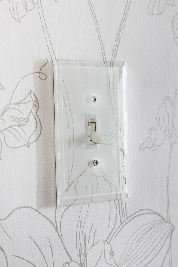 Lucite wall plate