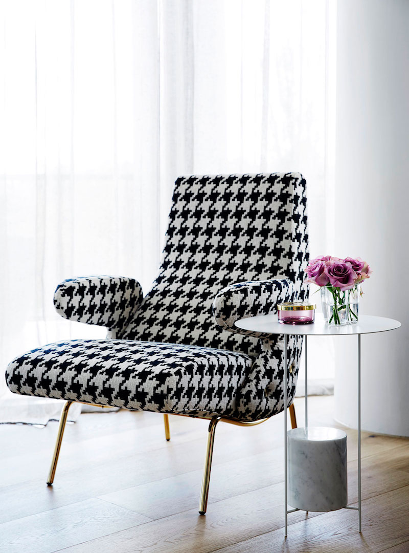 M Residence bedroom accent chair