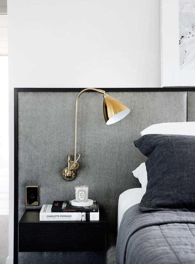 M Residence master bedroom nightstands