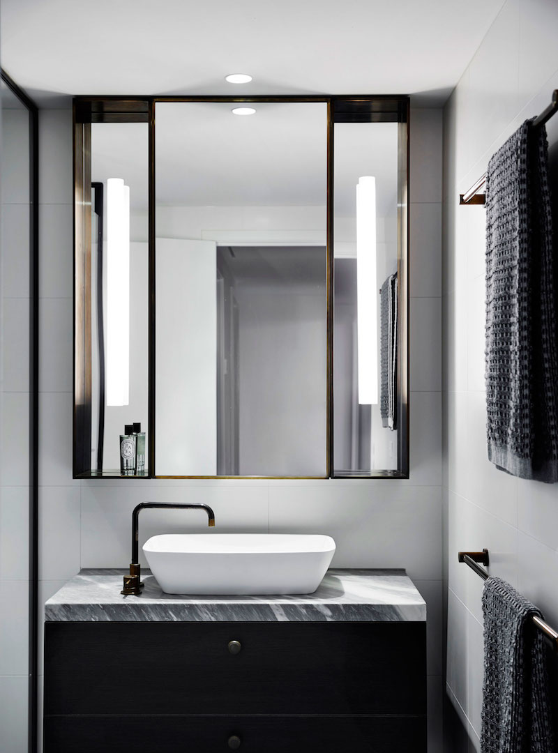 M Residence powder room design