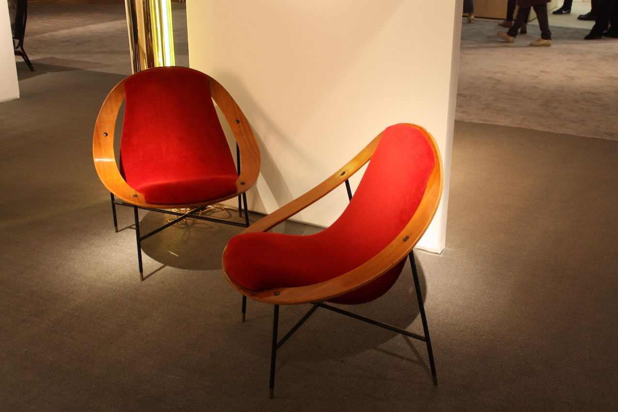 Red has always been a popular color as evidenced by these vintage red chairs from MF Toninelli.
