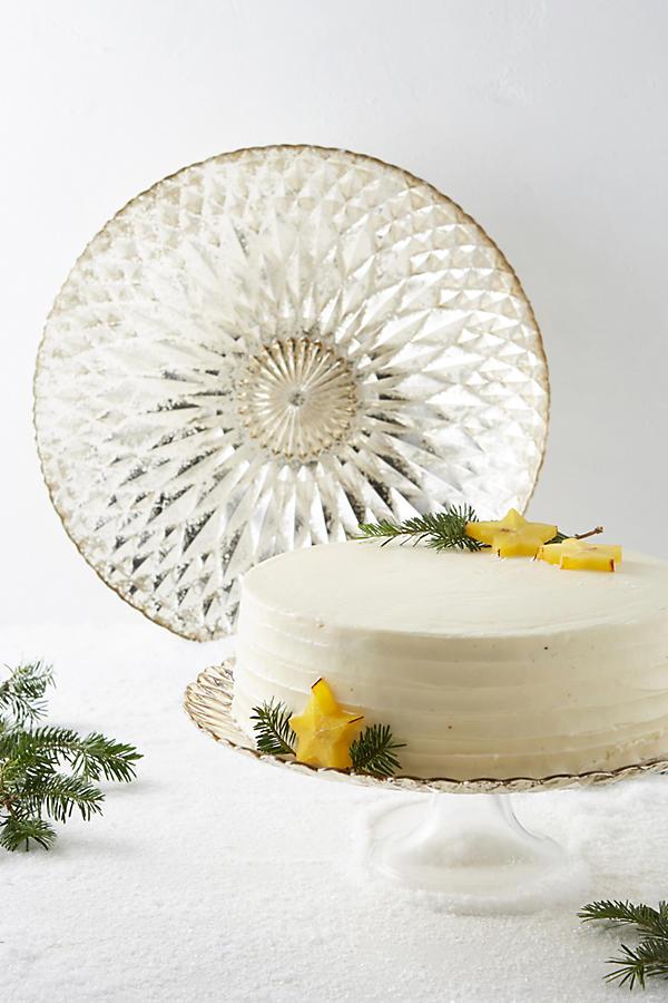 Mercury glass cake stand