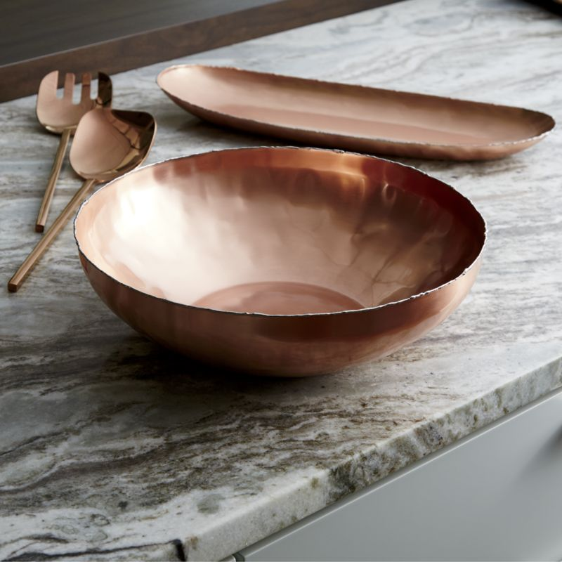 Metal copper bowl