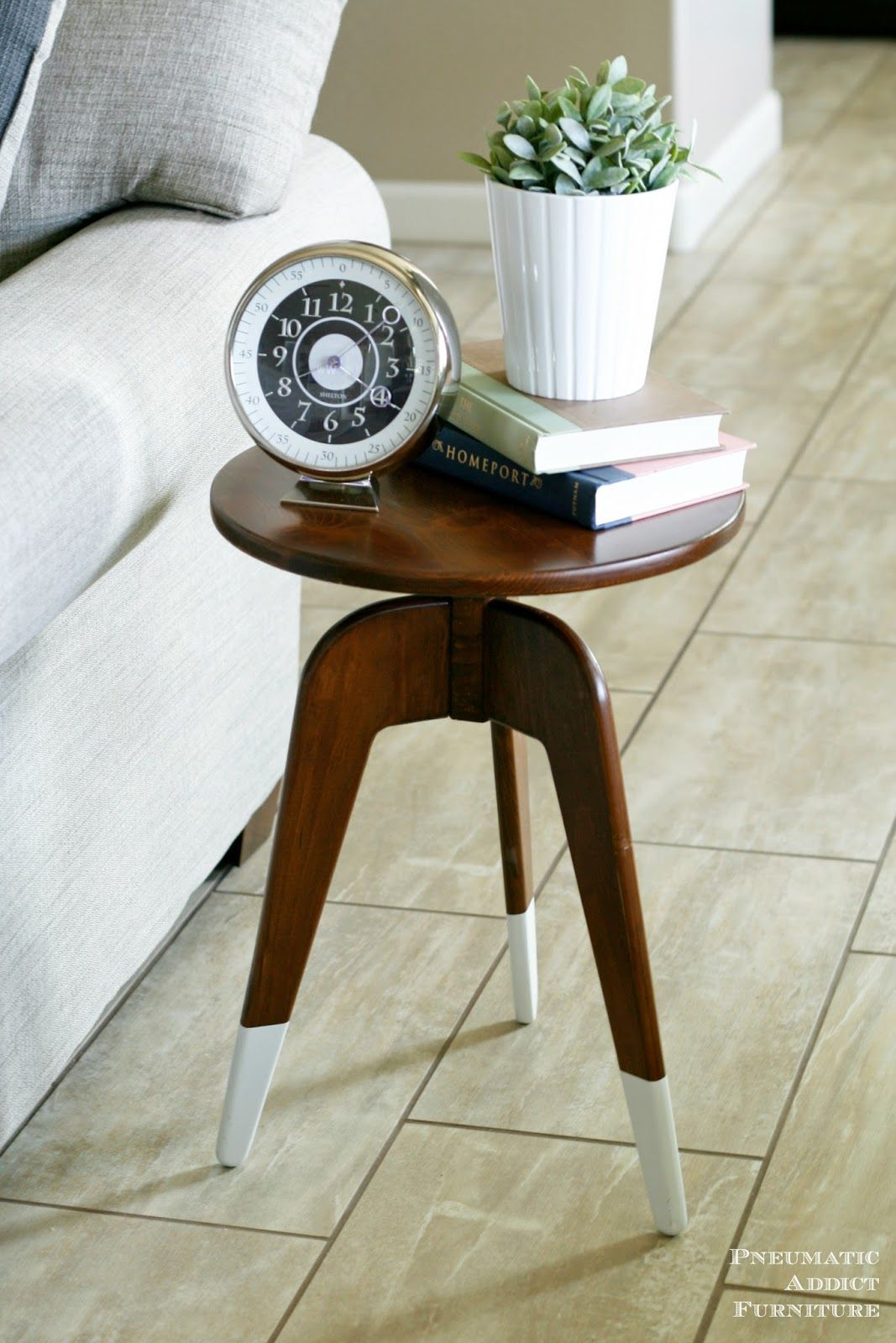 Mid Century Three-legged end tables
