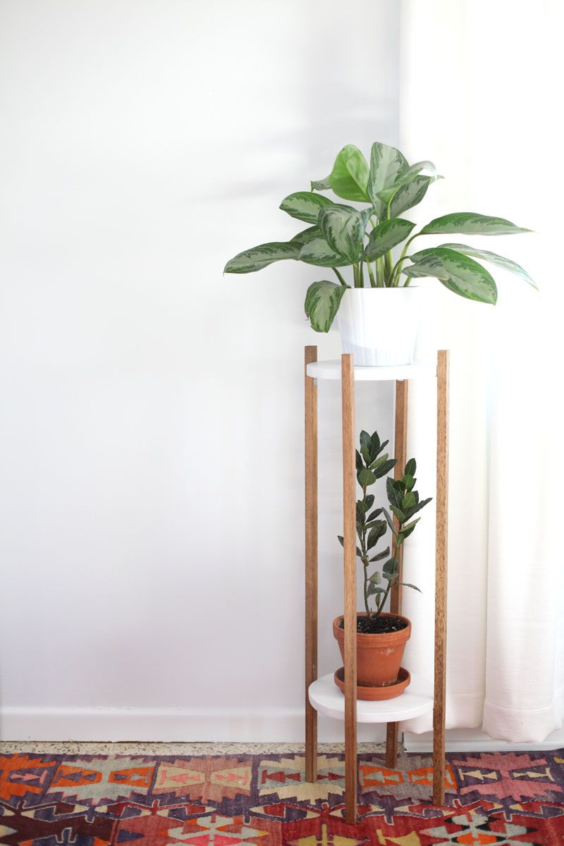 Mid century inspired plant stand