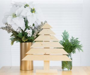 DIY Rustic and Modern Wood Christmas Tree