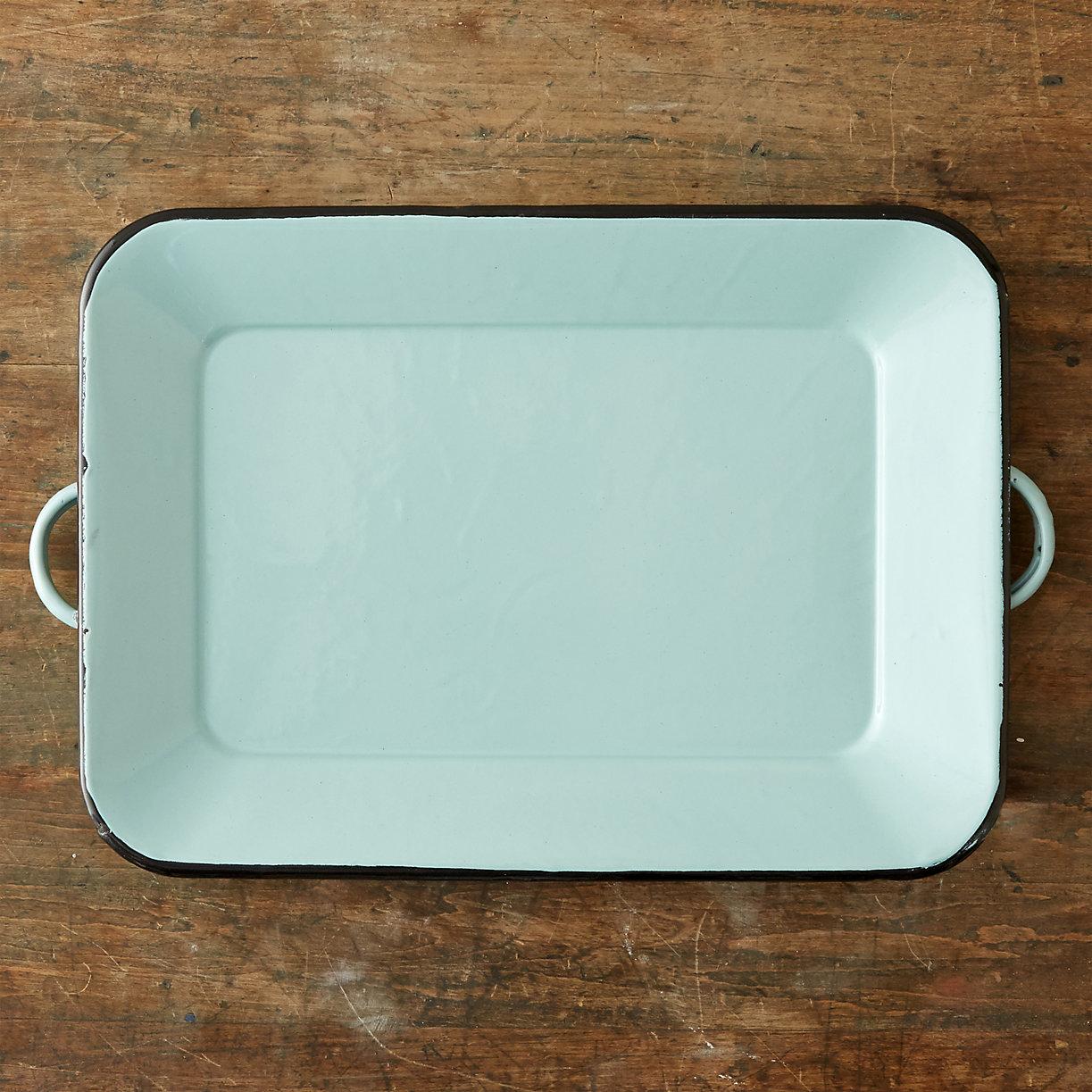 Mint enamel tray