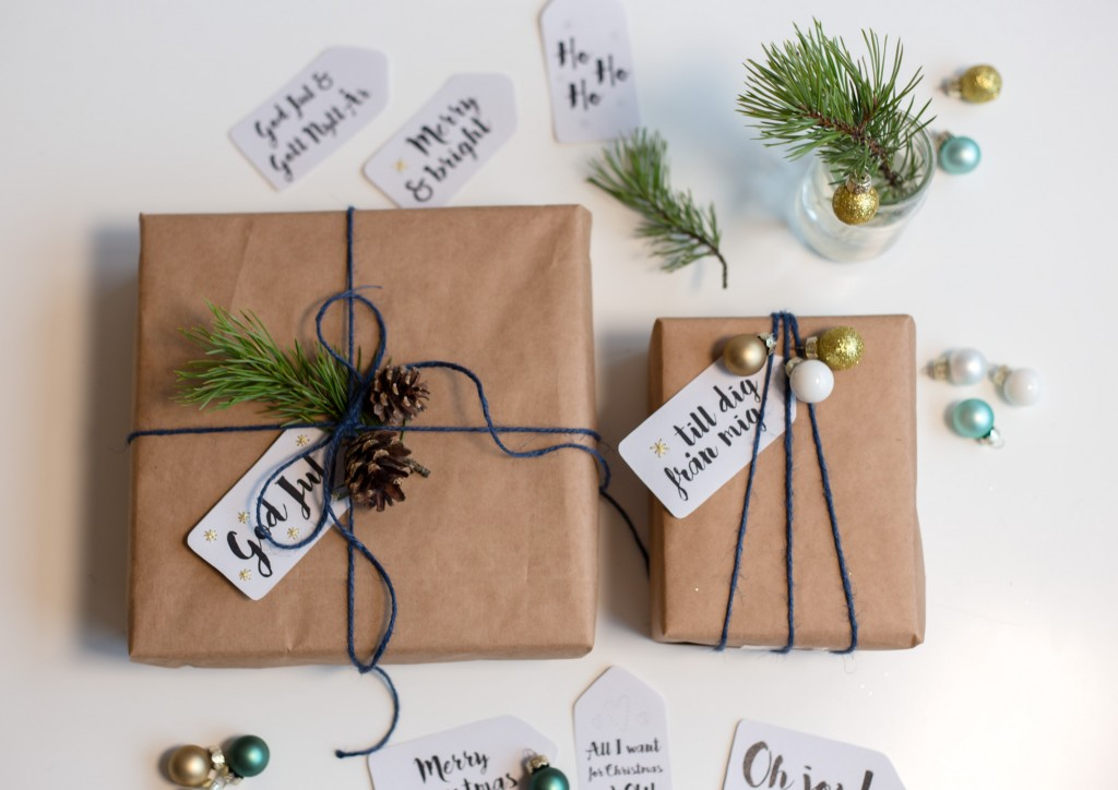 Modern Brown Paper for Christmas Gifts'
