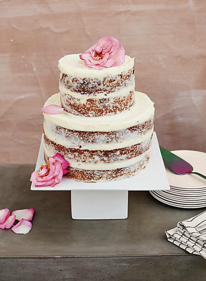 Modern white cake stand
