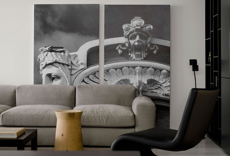 Monochrome Flat wall art