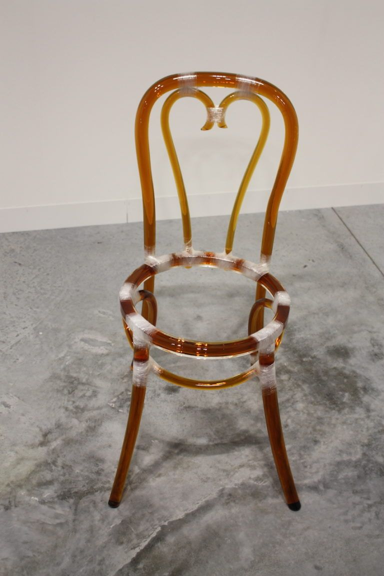 Murano Glass and Plastic Chair