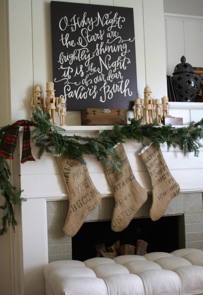 Nutcracker christmas mantel