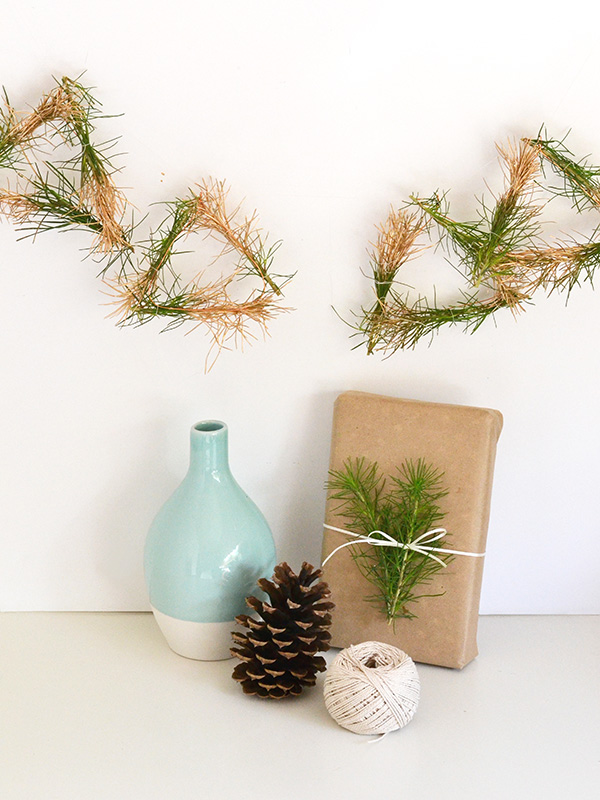 Pine dipped garland