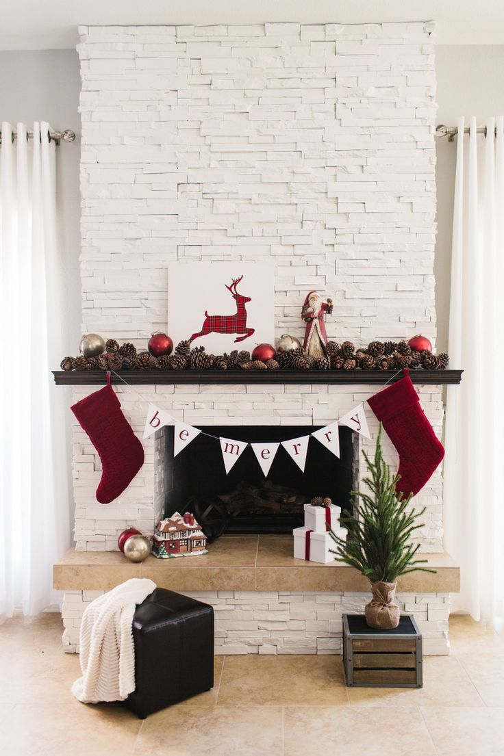 pinecone christmas mantel - Decorating Your Mantel For Christmas