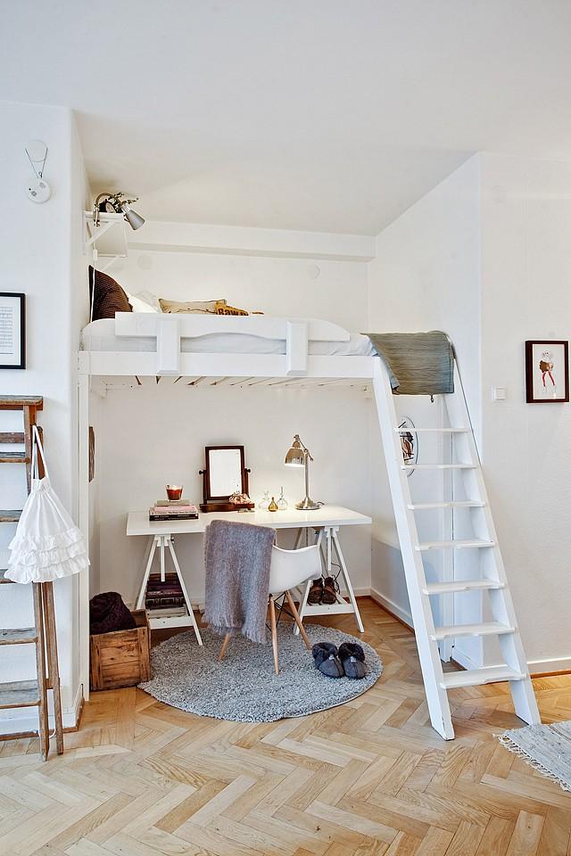 Popular loft bed and desk