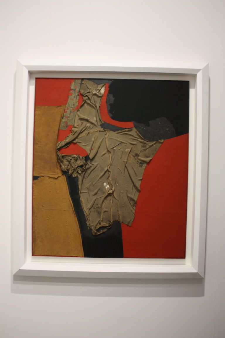 Rosso Nero by Alberto Burri presented by Tirnabuoni Art Paris.