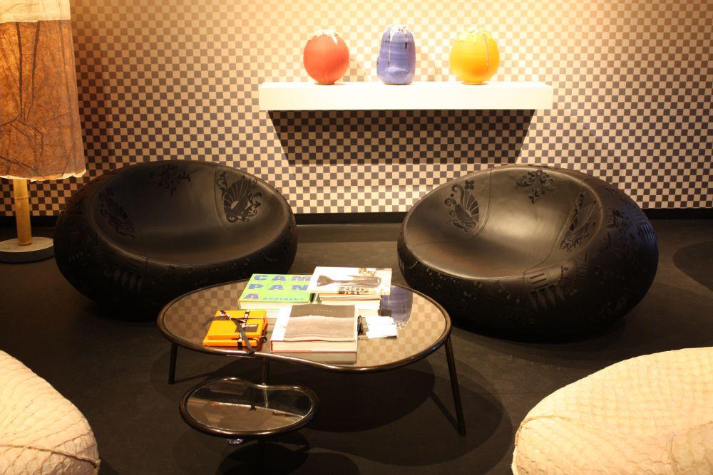 Round Espresso Chairs