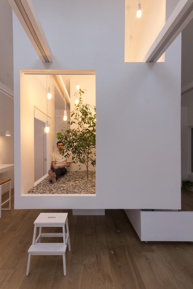 Ruetemple modular house zen area inside the sube