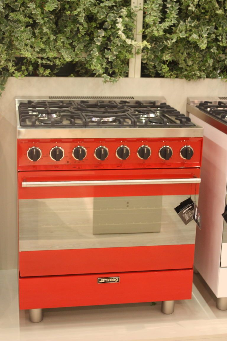 SMEG's range comes in a fiery red.