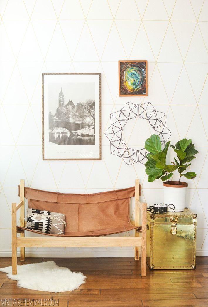 Safari mid century inspired bench