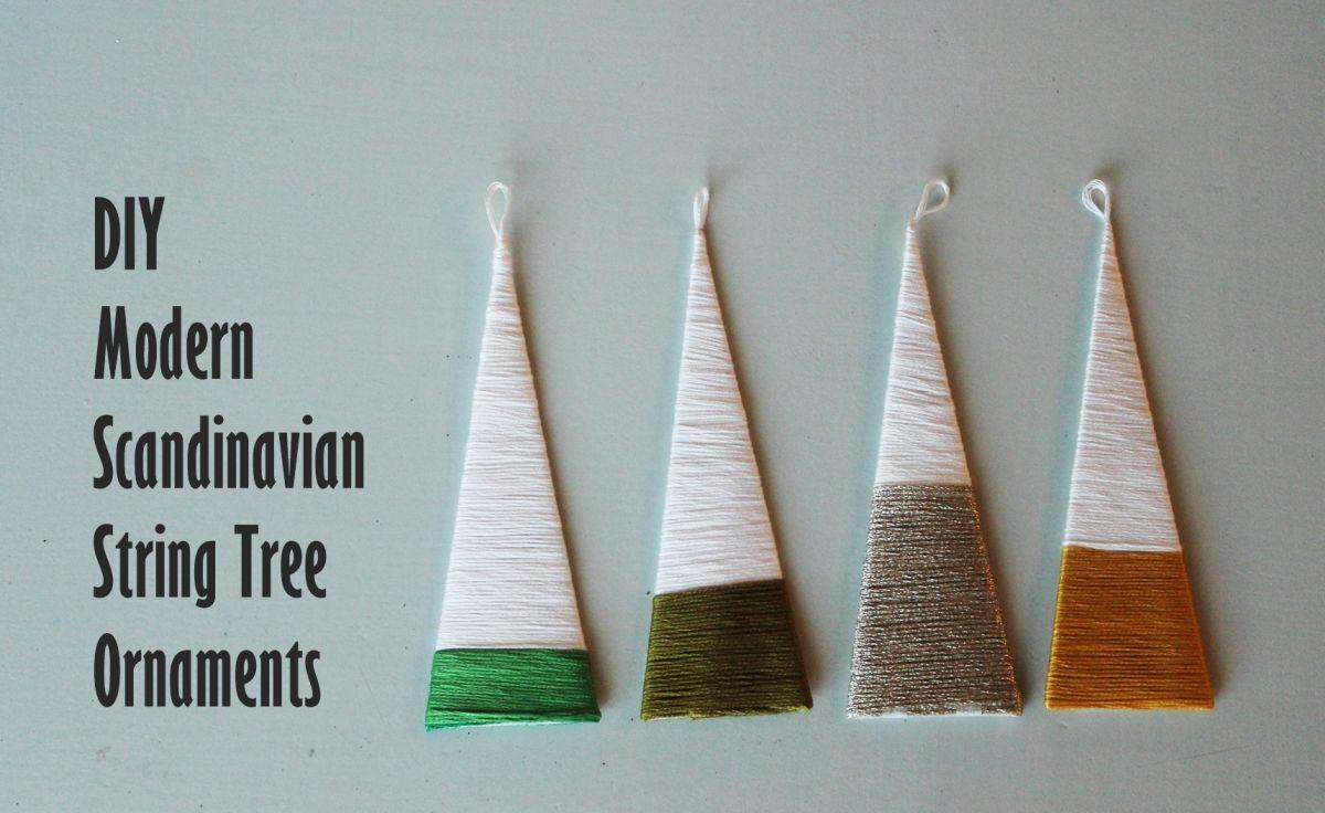 Scandinavian String Tree Ornaments
