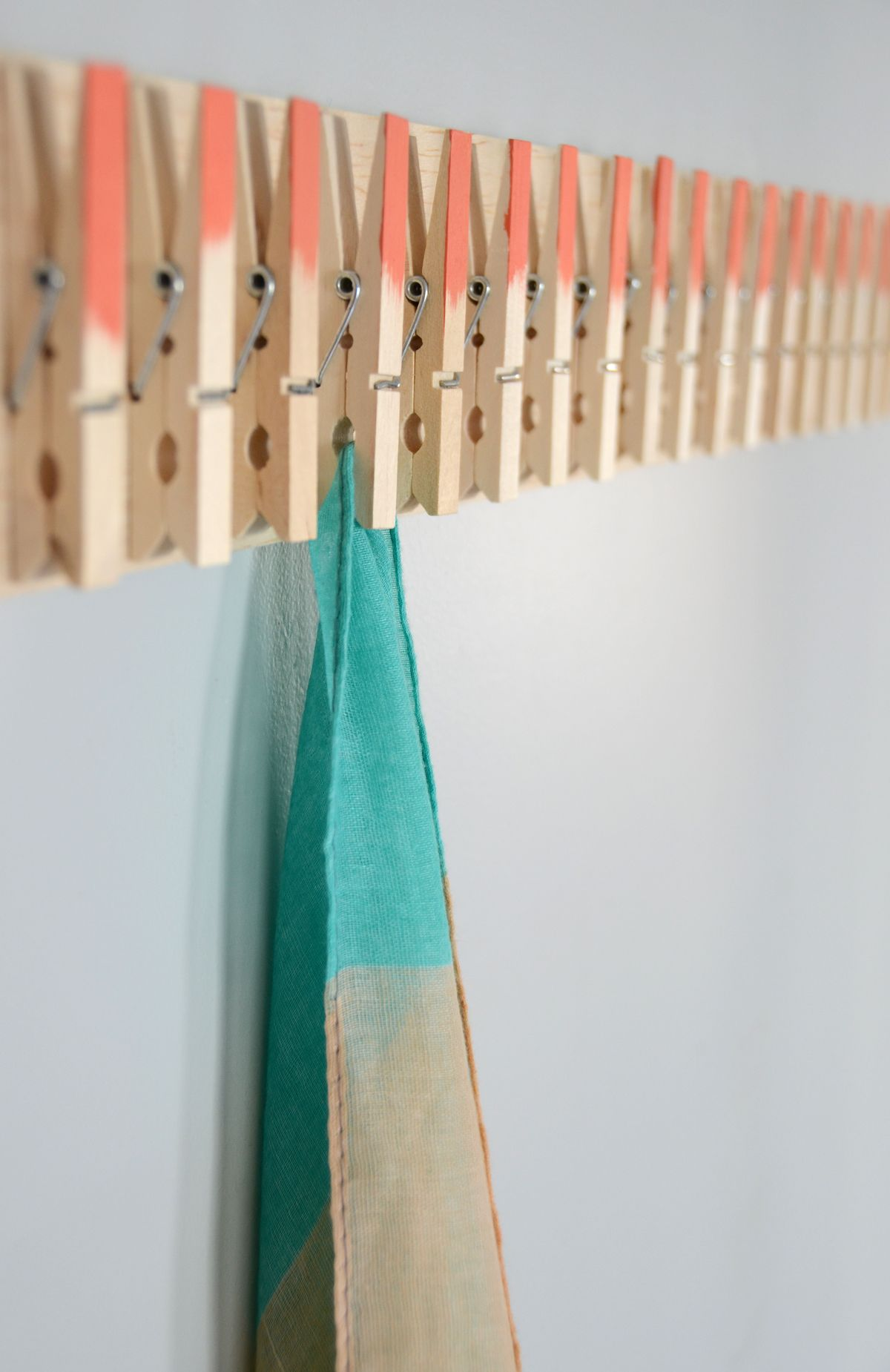 Scarf hanger from Clothespin