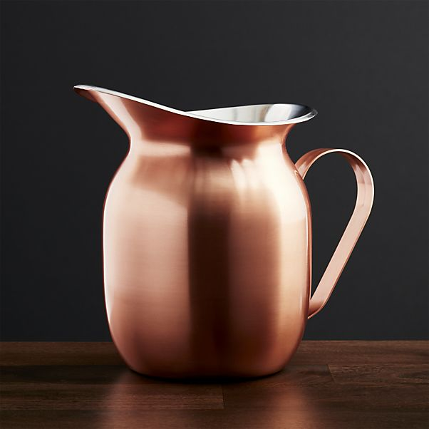 Shiny copper pitcher