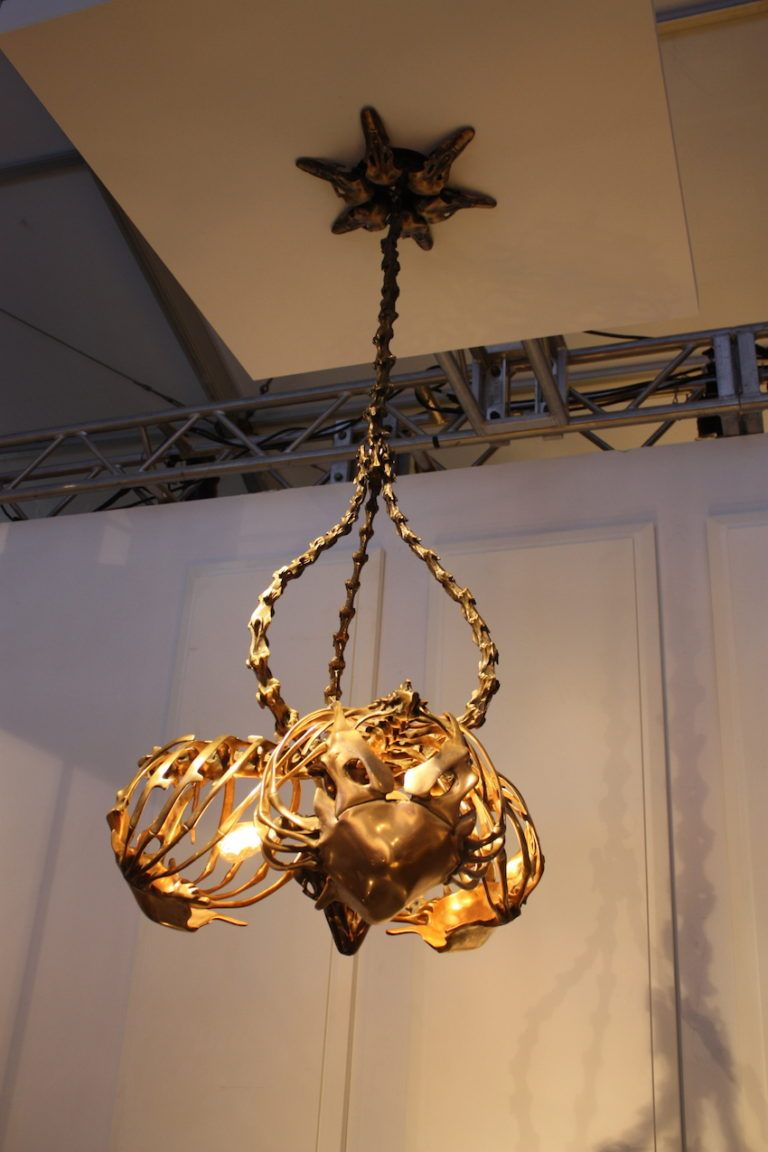 Intricate and unusual, the fixture is a definite conversation piece.