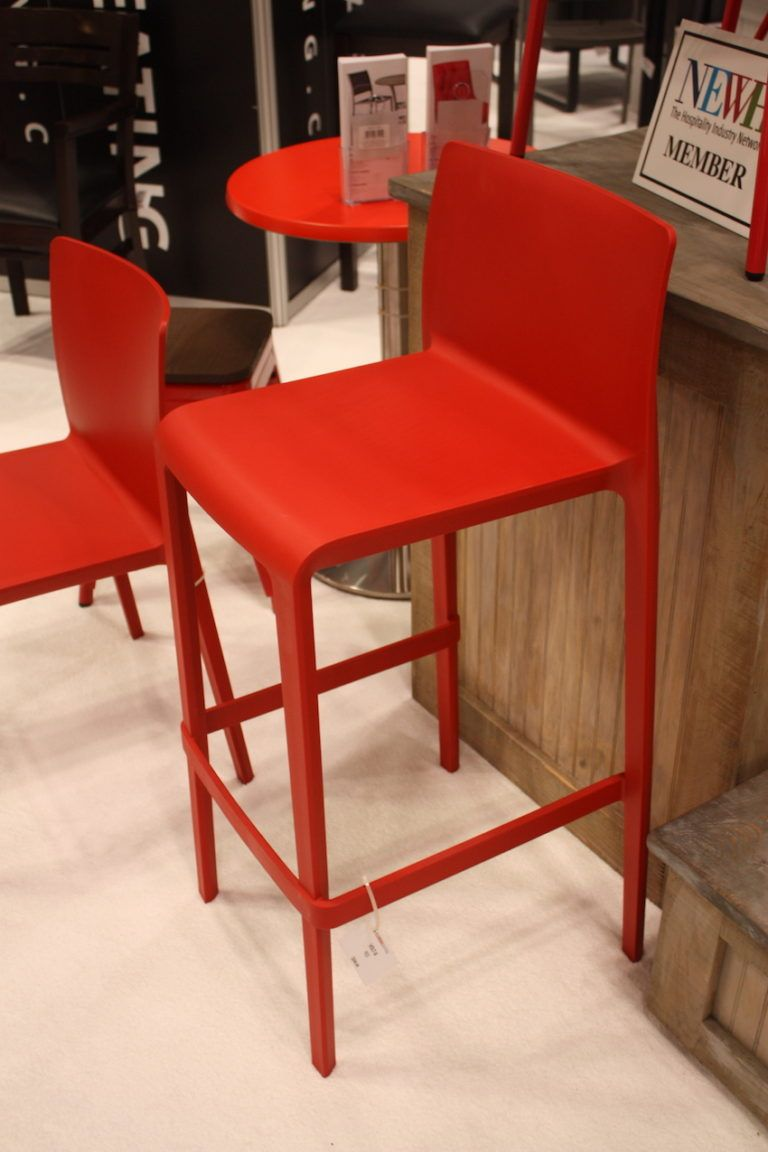 This bar stool is from Florida Seating.