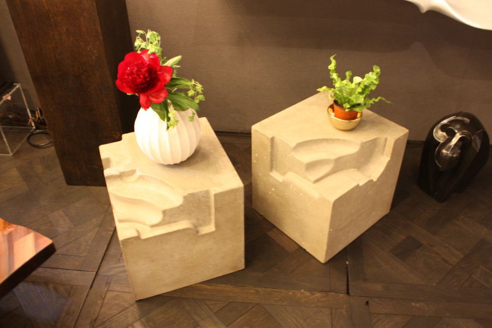 Stools decorated with small plants