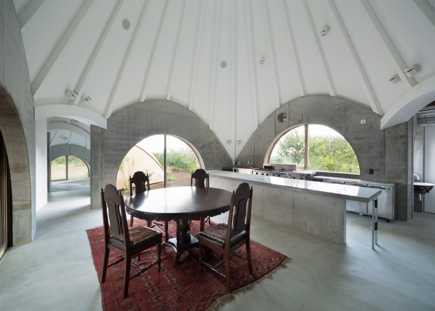 Teepee-shaped buildings Kitchen