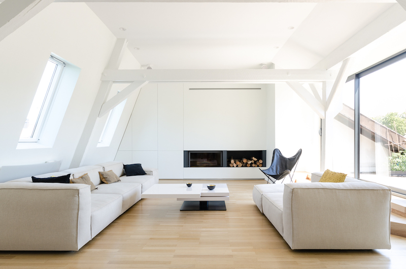 The Attic in Strasbourg living room sofas