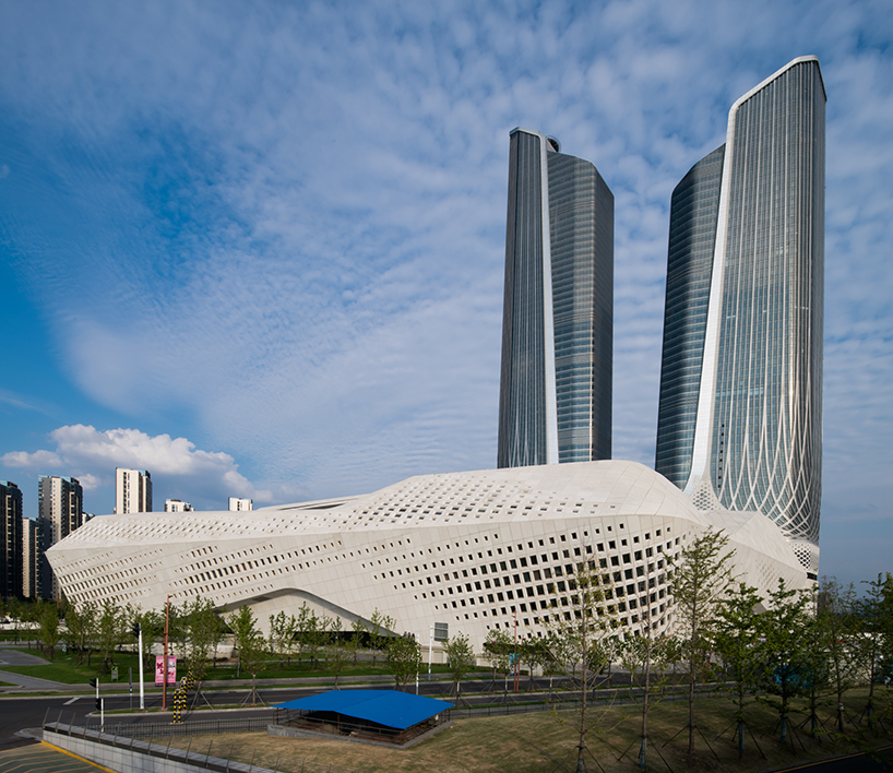 The Nanjing International Youth Culture Centre by Zaha hadid