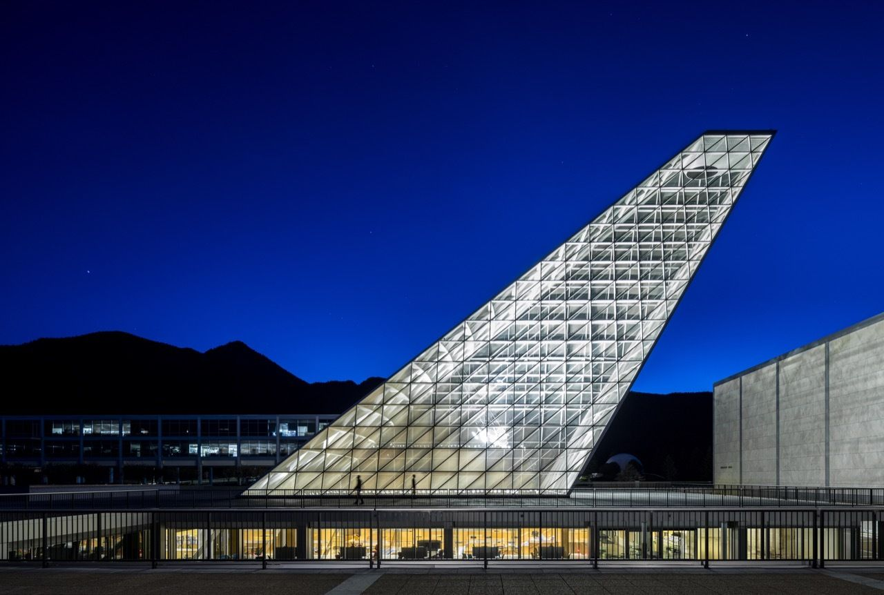 The U.S. Air Force Academy Center for Character and Leadership Development by Night