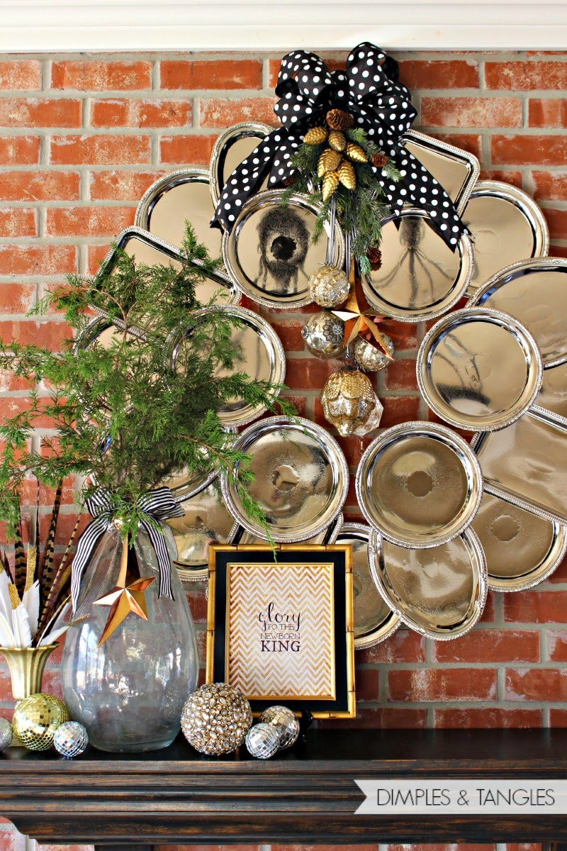 Unique christmas wreath