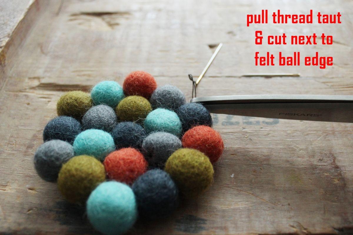 Use sharp scissors to cut the thread