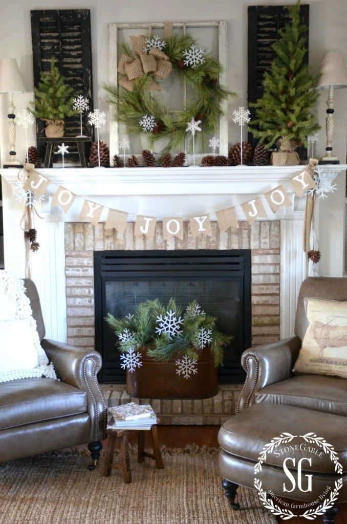 versatile mantel background - Decorating Your Mantel For Christmas