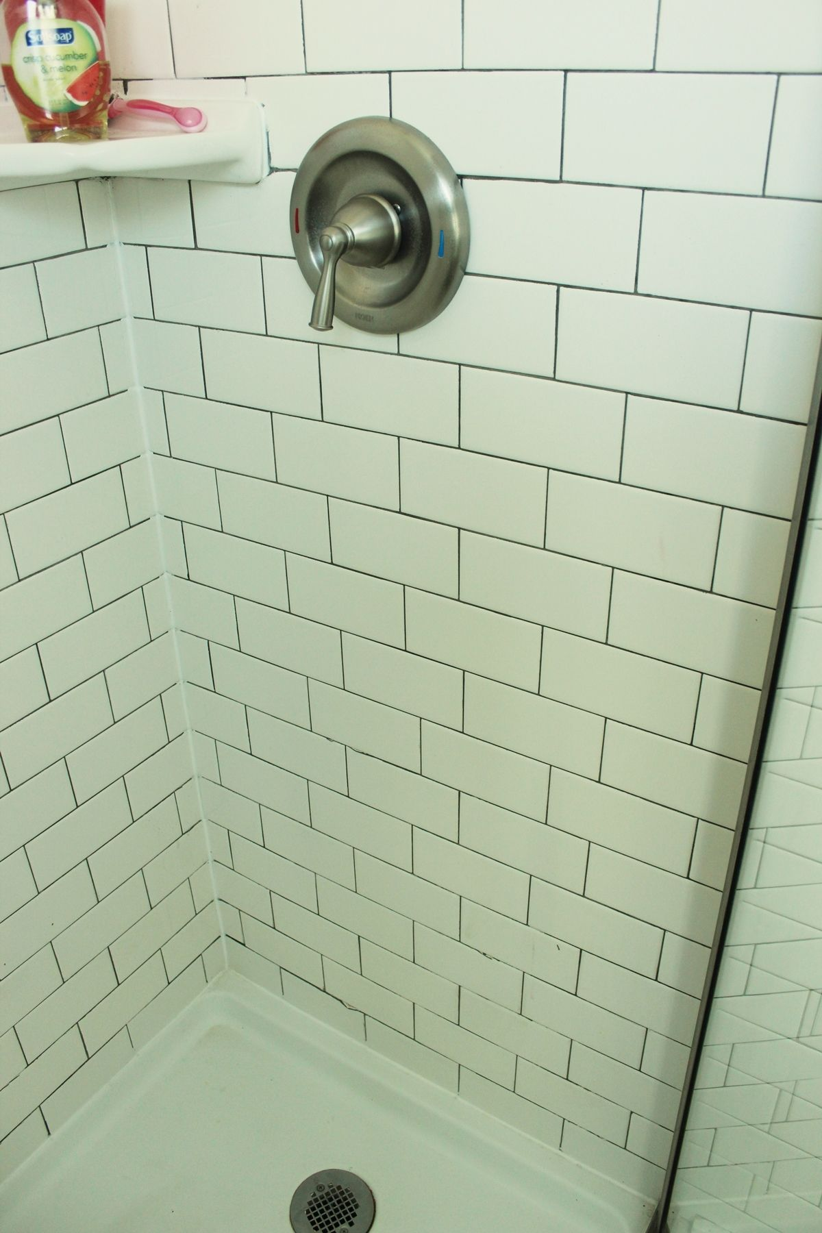 Walk In Shower - Subway Tiles