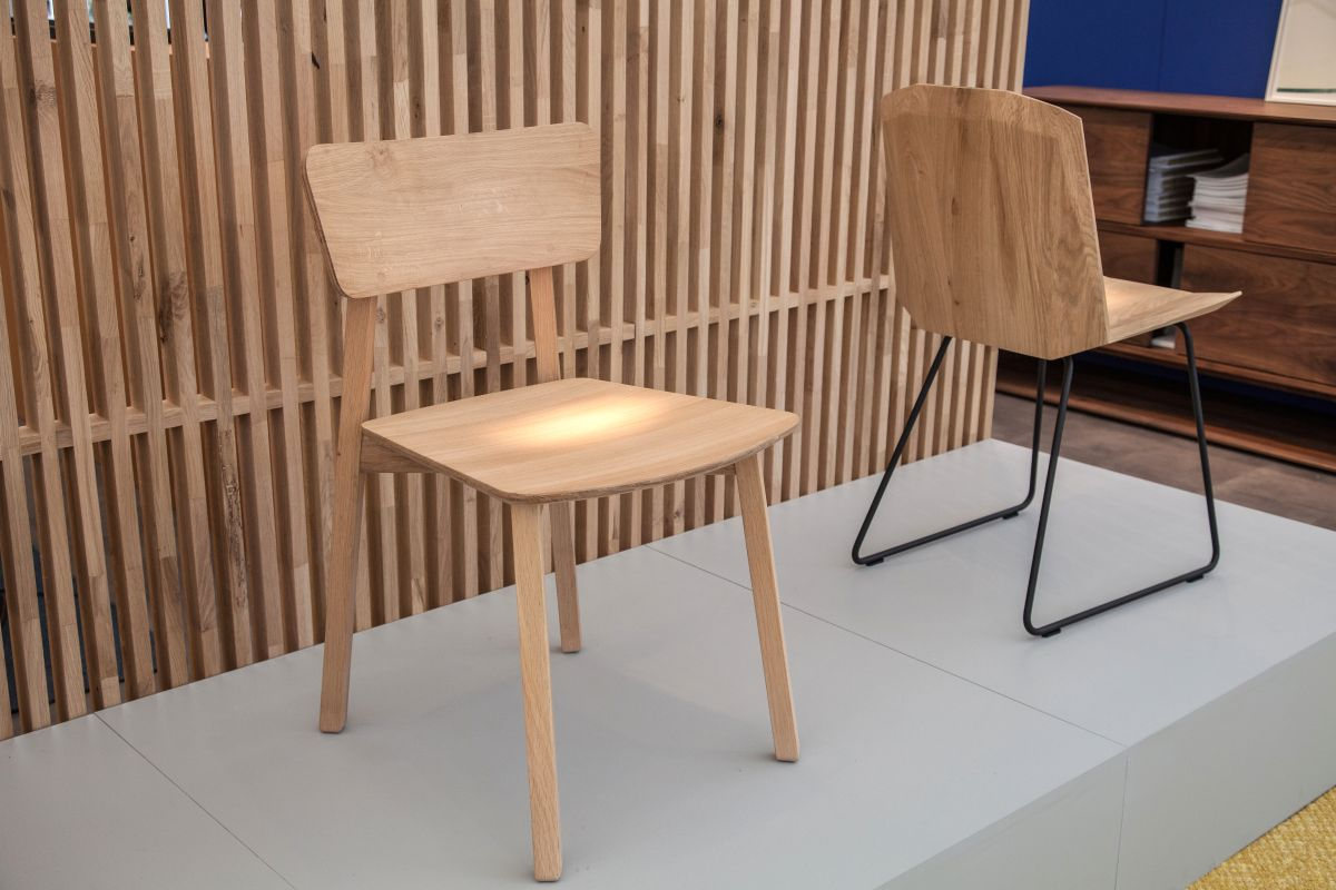 Wood simple armless chairs