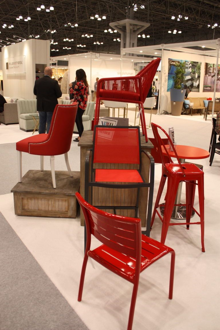 Woven or vinyl strip chairs are fun and casual.