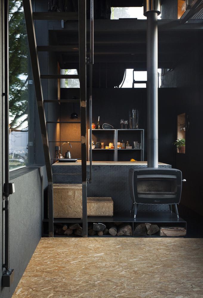 Zen House firewood storage