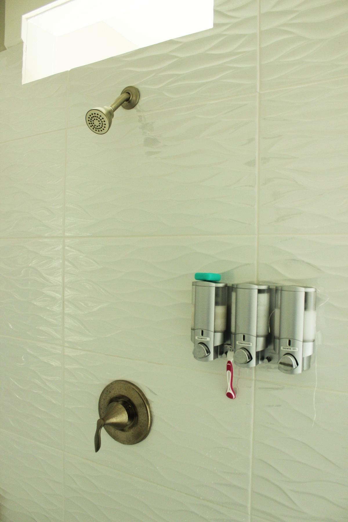 great idea for a large walk-in shower