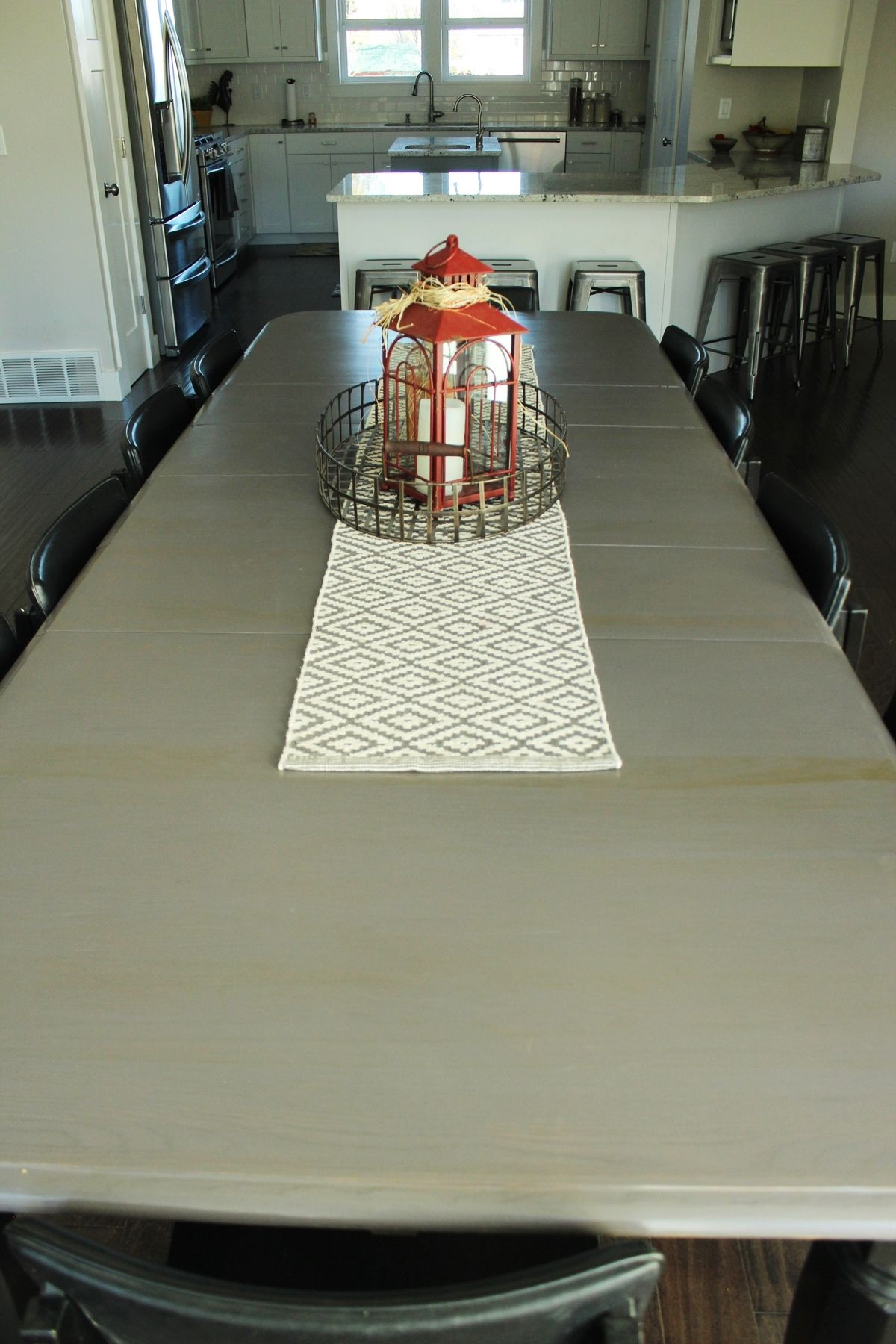 huge dining table in the family dining room