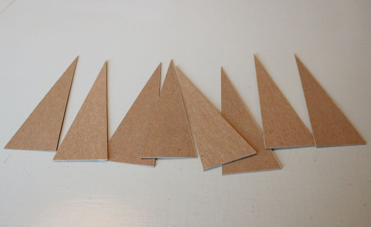 many chipboard Christmas trees