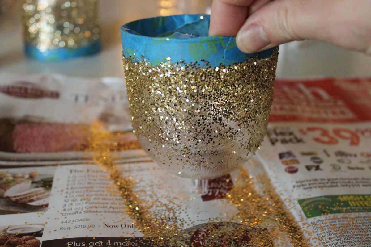 remove any excess glitter
