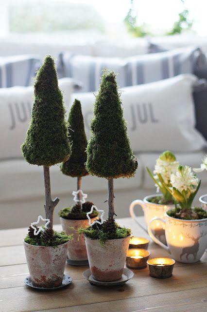 styrofoam mini christmas Trees