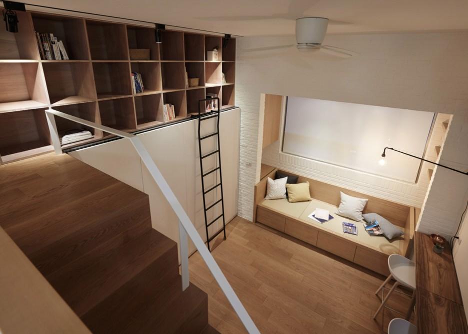 tiny 22-metre-square Taiwan apartment living