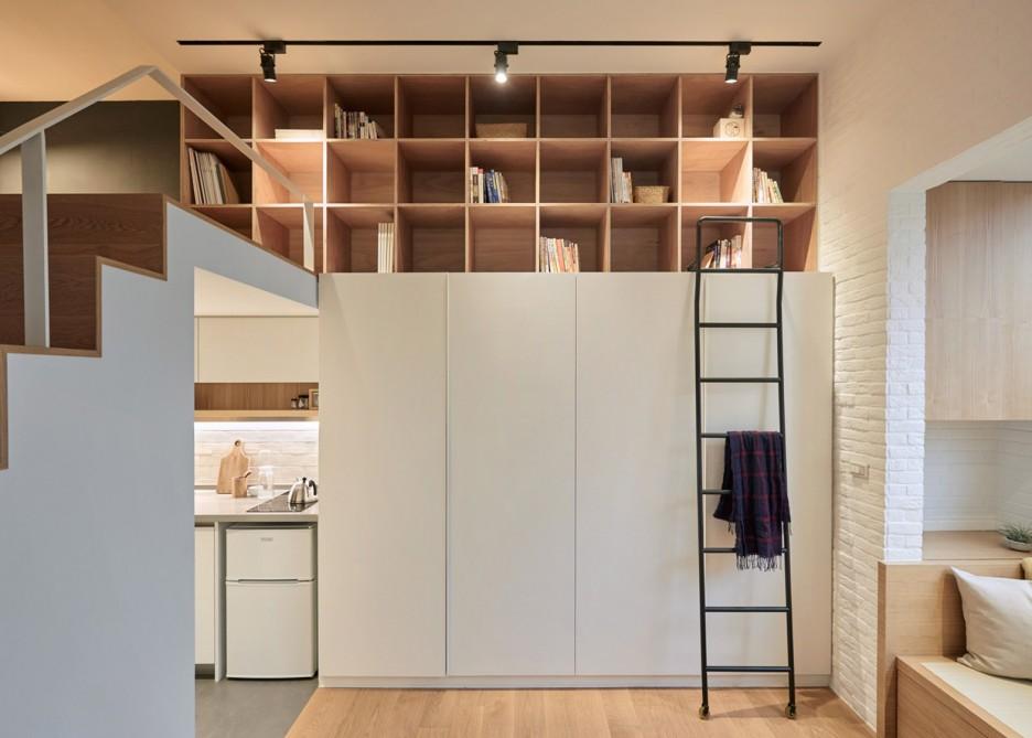 tiny 22-metre-square Taiwan apartment storage